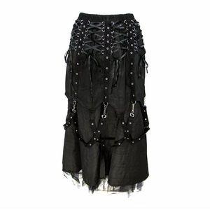 SOLD Dark Star Black Gothic Skirt Costume Medieval